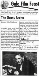 grass arena press clipping