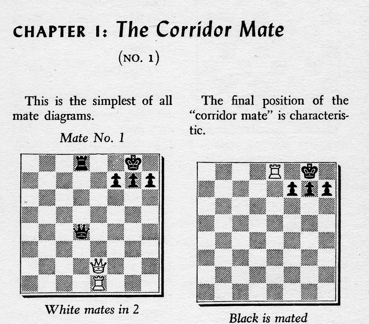 Kingpin Chess Magazine Ron Harman 19382014 A Champion Of The Checkmate Diagram Is Called Quotat Corridor Mate Cropped